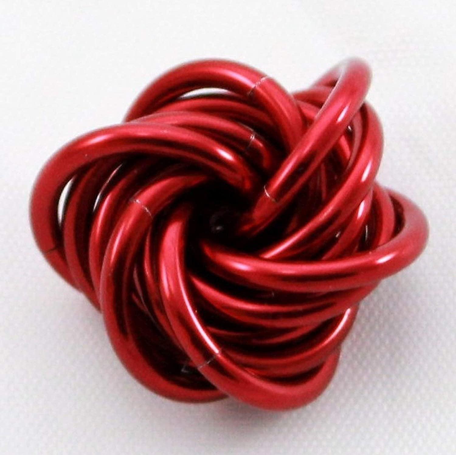 Möbii Ruby: Small Mobius Hand Fidget Toy, Shiny Red Stress Ball for Restless Hands, Office Toy