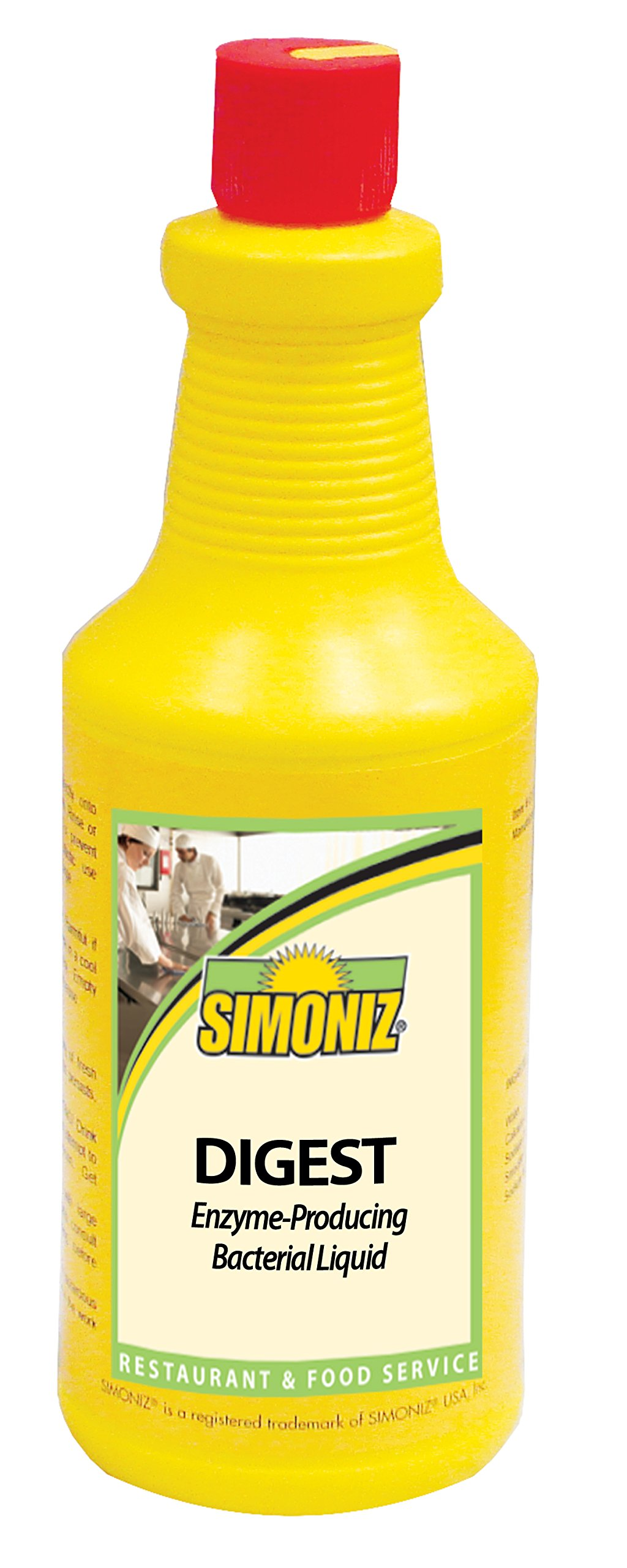 Simoniz D0860012 Digest Enzyme-Producing Drain Cleaner, 32 oz Bottles per Case (Pack of 12)