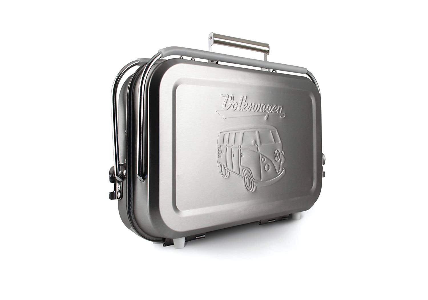 VW Collection by BRISA VW T1 Bus Portable BBQ Grill Stainless Steel .