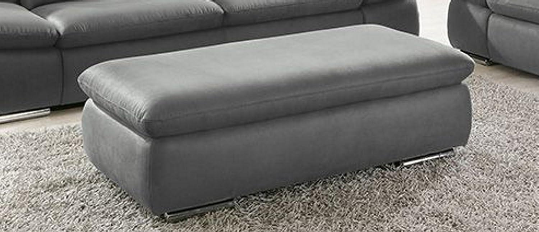 Sofahocker La Isla Grau Couch Lederoptik Polstergarnitur Bequemsofa