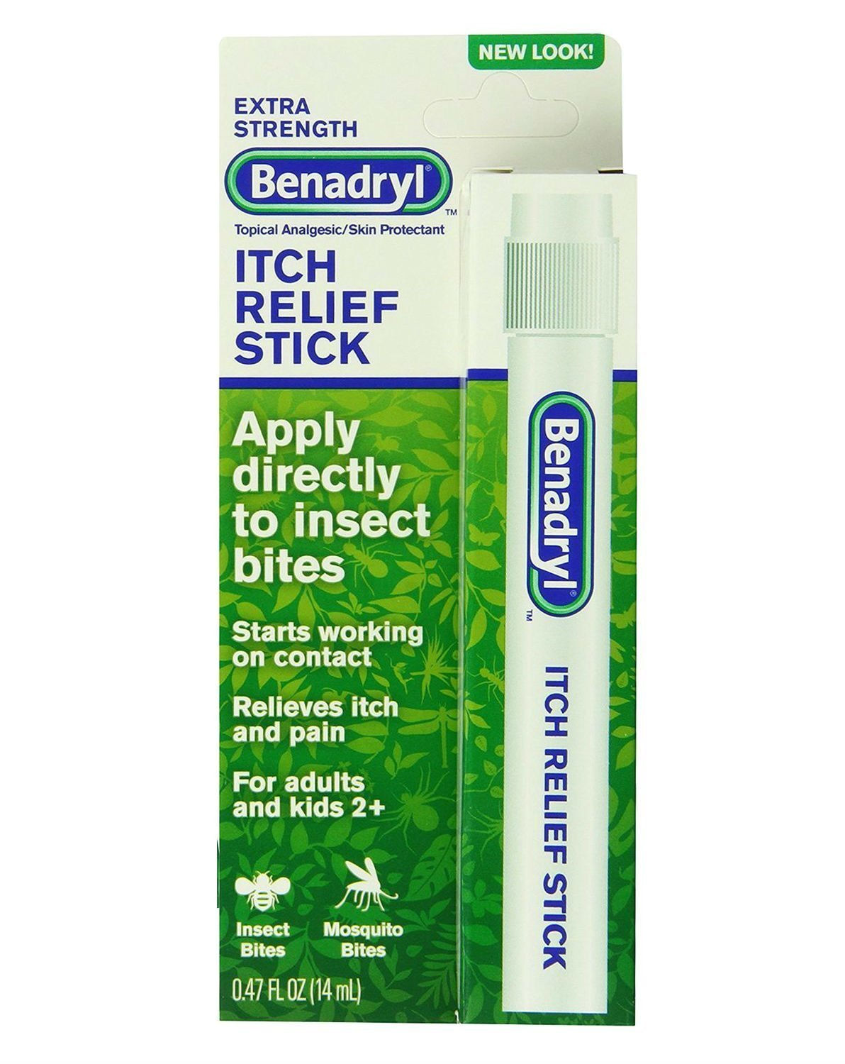 Benadryl Itch Relief Stick, Extra Strength, 0.47 Ounce (Pack of 4)