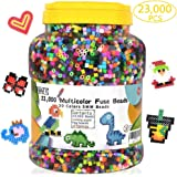 Fuse Beads, 23,000 pcs Multicolor Fuse Beads Kit for Kids Crafts, 5MM 30 Colors Melty Beads Including 3 Pegboards, 5 Ironing Paper, 10 Patterns for Boys and Girls, Works with Perler Beads by INSCRAFT