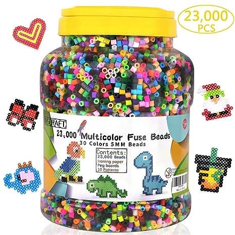 INSCRAFT cuentas de fusible, 23.000 piezas multicolor, kit ...