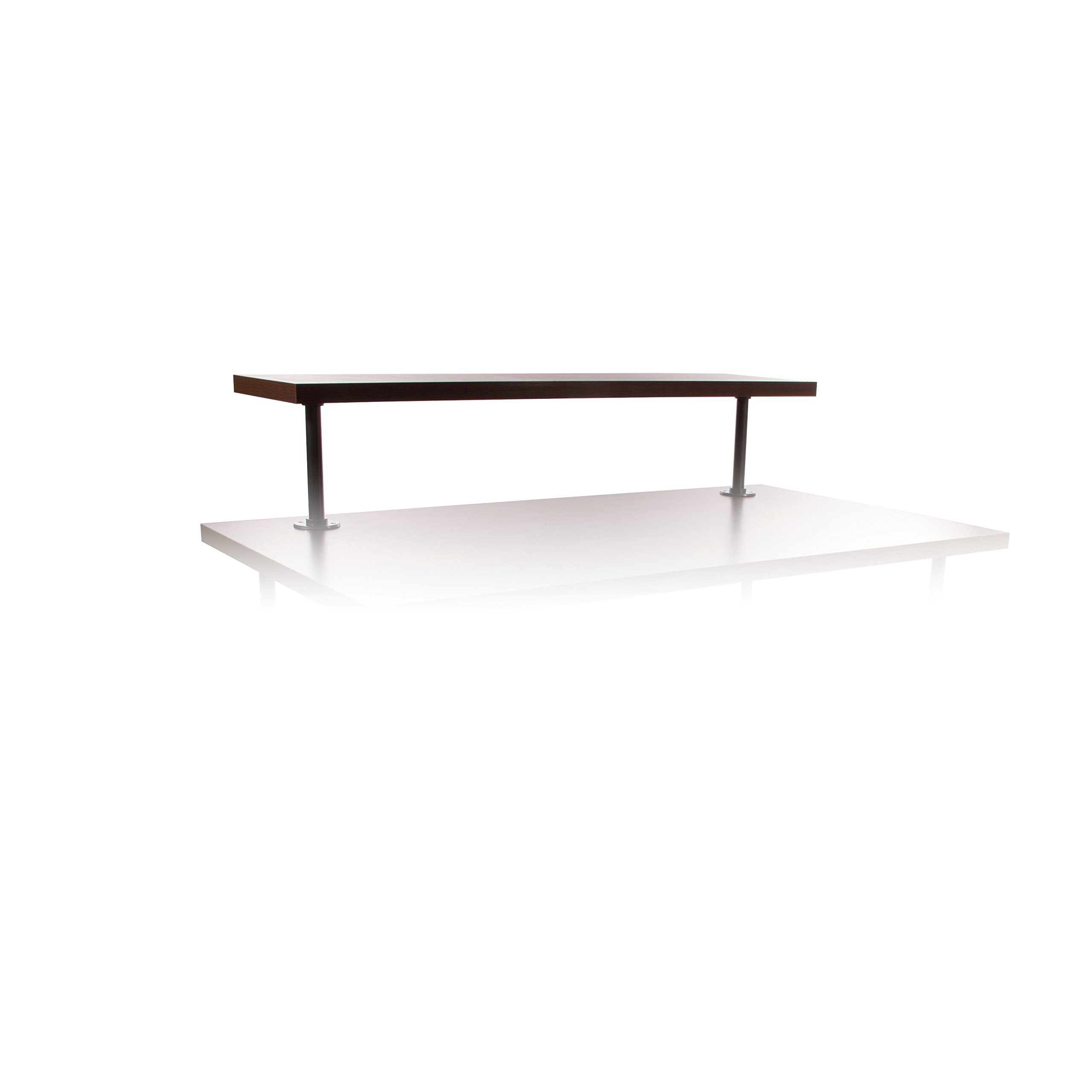 Econoco Pipeline Nesting Topper, Dark Brown Wood Grained Melamine (Large Table Sold Separately)
