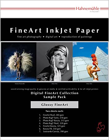 Hahnemuhle Digital Inkjet Paper Selection Pack 14 Sheets A4 Glossy