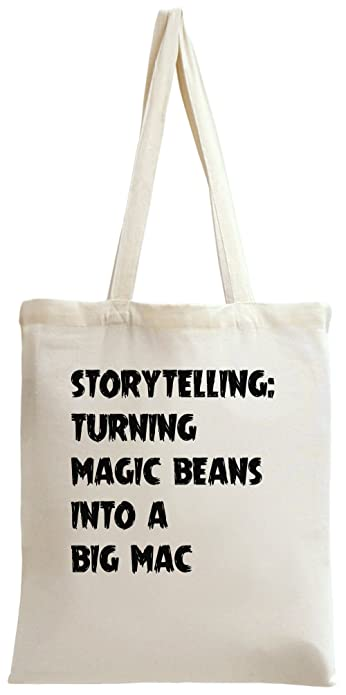 storytelling: turning magic beans into a big mac Tote Bag