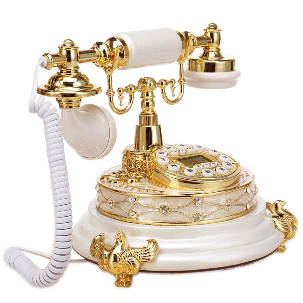 GLJJQMY レトロ電話ホームリビングルームレトロ樹脂固定電話装飾電話 電話   B07R2HZG6S