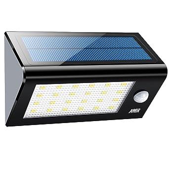 Amir 24 LED lámpara solar, lámpara solar, 300 Lumens, luz de jardín,