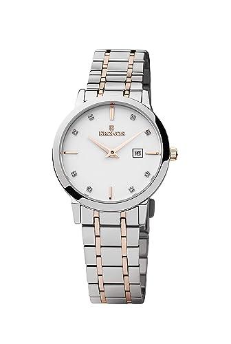 Kronos - Elegance Ladies Bicolor 974.8.43 -Reloj de señora de cuarzo, brazalete de acero, color esfera: blanca: Amazon.es: Relojes