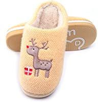 WINZYU Zapatillas Casa Mujer Hombre Invierno Cálido Pantuflas Suave Felpa Cómodo Reno Regalo Zapatos