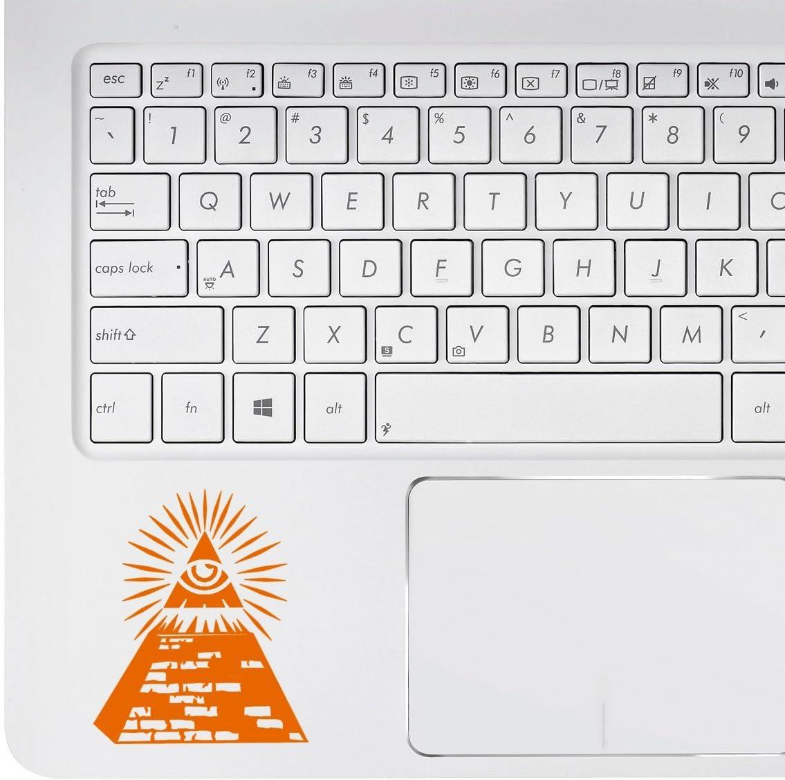 Pegatina para MacBook Pro por defecto Stickany Palm Series Illuminati Pyramid Chromebook y port/átiles