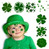 72 PC St. Patrick's Day Tattoos – Encci Temporary Shamrock Tattoos For St.Paddy's day Irish Tattoo Sticker Clover Tattoos Par