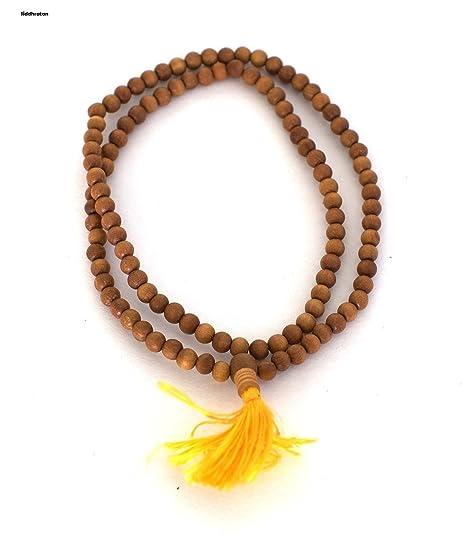 siddhratan fragancia Sándalo Mala 108 + 1 cuentas hindú Japa ...