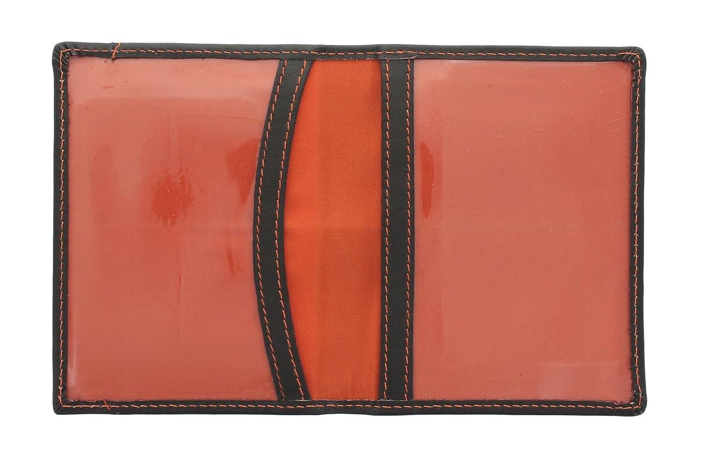 Mala Leather Odyssey Porte-Carte de Voyage en Cuir Souple 555/_14 Fuchsia