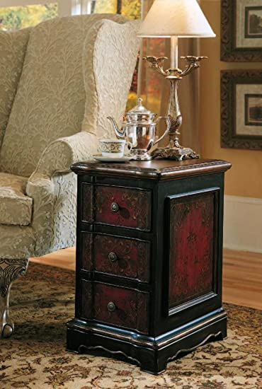 Beau Hooker Furniture Seven Seas Handpainted Three Drawer Accent Table