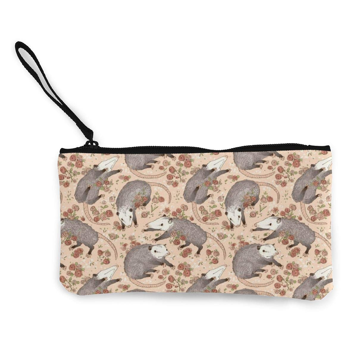 Befuddled Possums Coin Pouch Canvas Coin Purse Cellphone Card Bag With Handle And Zipper