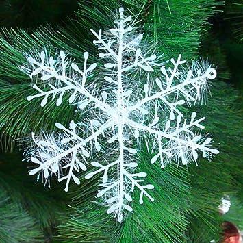Weihnachtsdeko Im Angebot.30 Stück Schneeflocken Stern Schnee 10cm Weihnachtssterne Dekostern Fensterdeko Weihnachtsschmuck Zum Hängen Formbar Tischdeko Weihnachtsdeko
