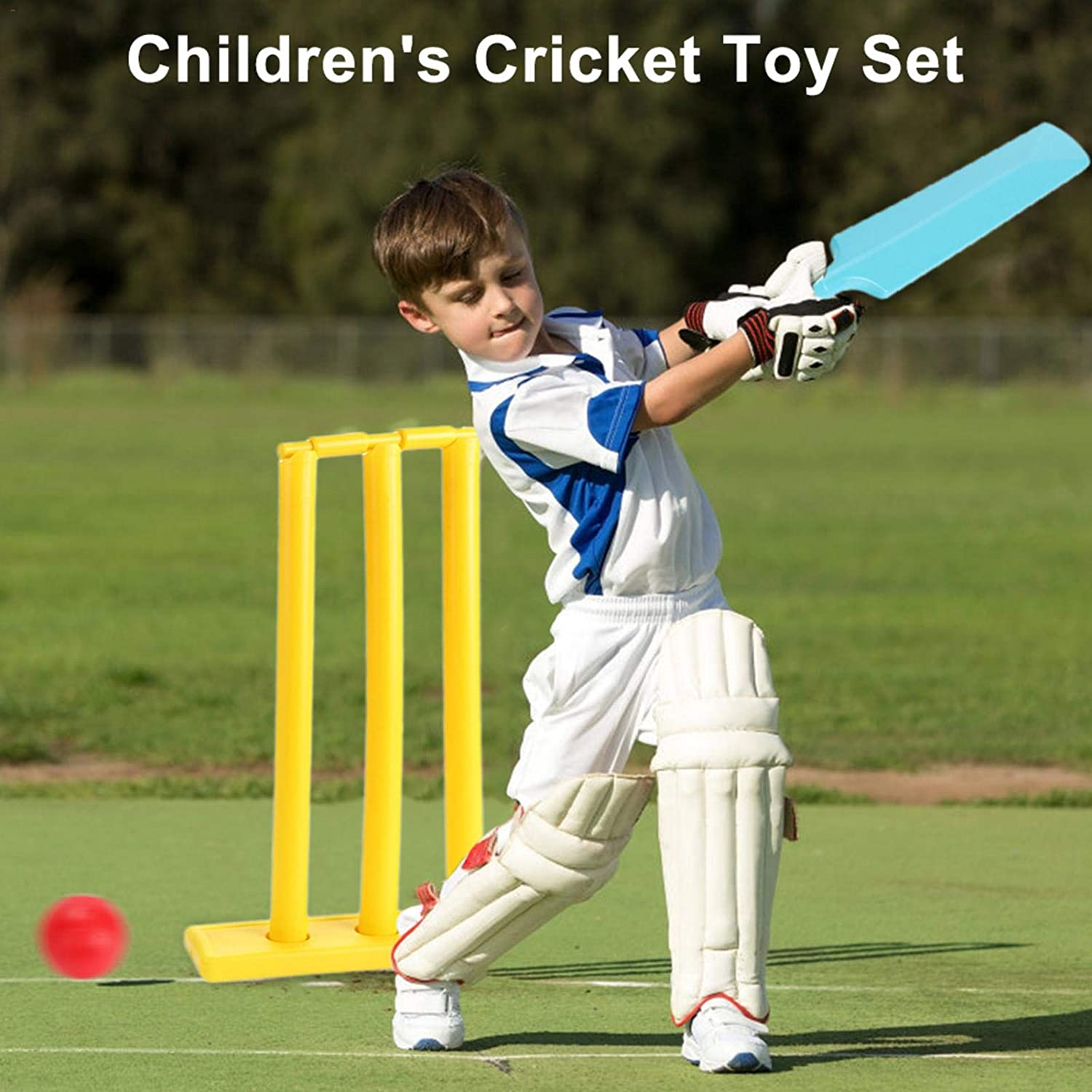 Kids Cricket Set Cricket Toy Set Hand-Eye Coordination Cultivation Sports Game Set Cricket Bat and Ball Beach Wicket Stand Kit