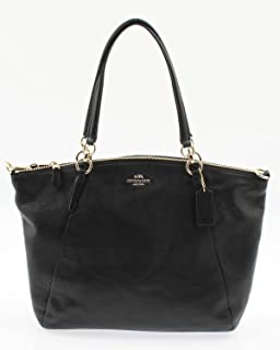 Coach Womens Turnlock 29 Carryall Top-Handle Bag Light Gold Black ... 85031a0704