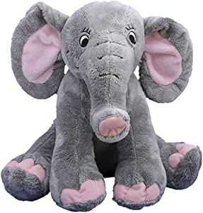"Beary Fun Friends Recordable 8"" Plush Trunks The Elephant w/20 Second Digital Recorder for Special Messages, Rymes or Songs"