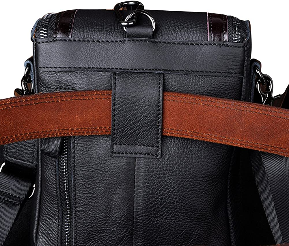 Genda 2Archer Men Leather Travel Belt Pack Small Shoulder Messenger Bag
