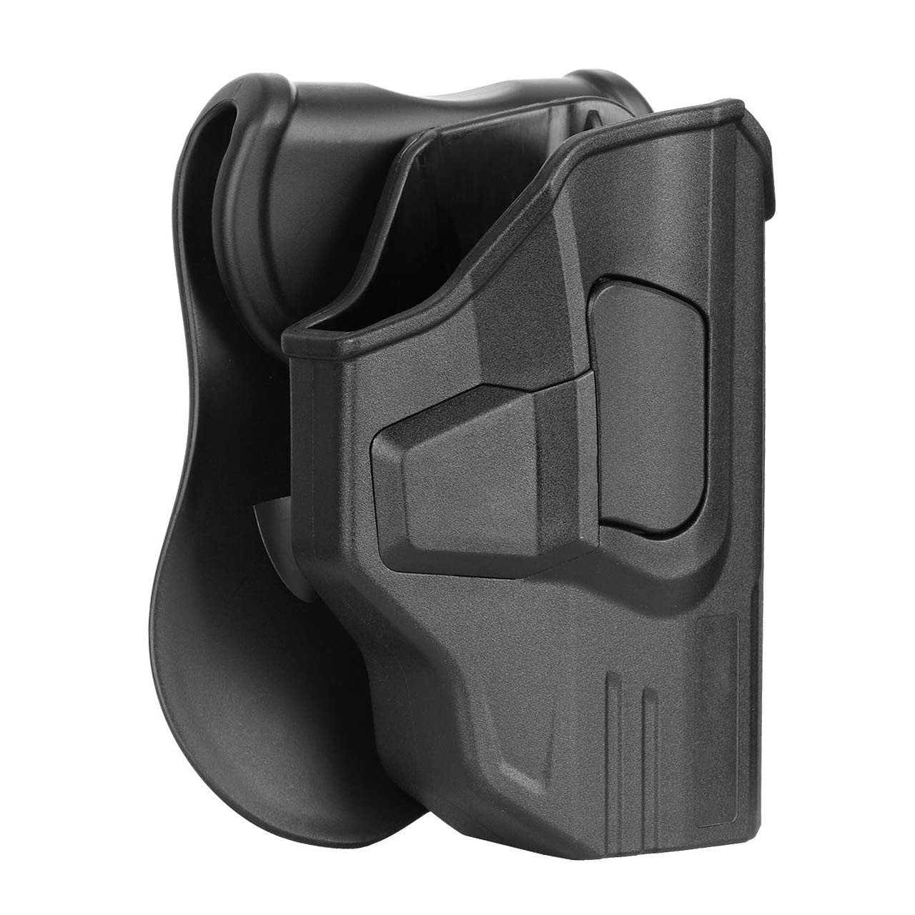 """S&W M&P Shield 9mm / .40 Holster, Tactical Outside The Waistband Belt Holster Fits Smith & Wesson MP Shield 3.1"""" Barrel, OWB Paddle Holster, Right Handed"""