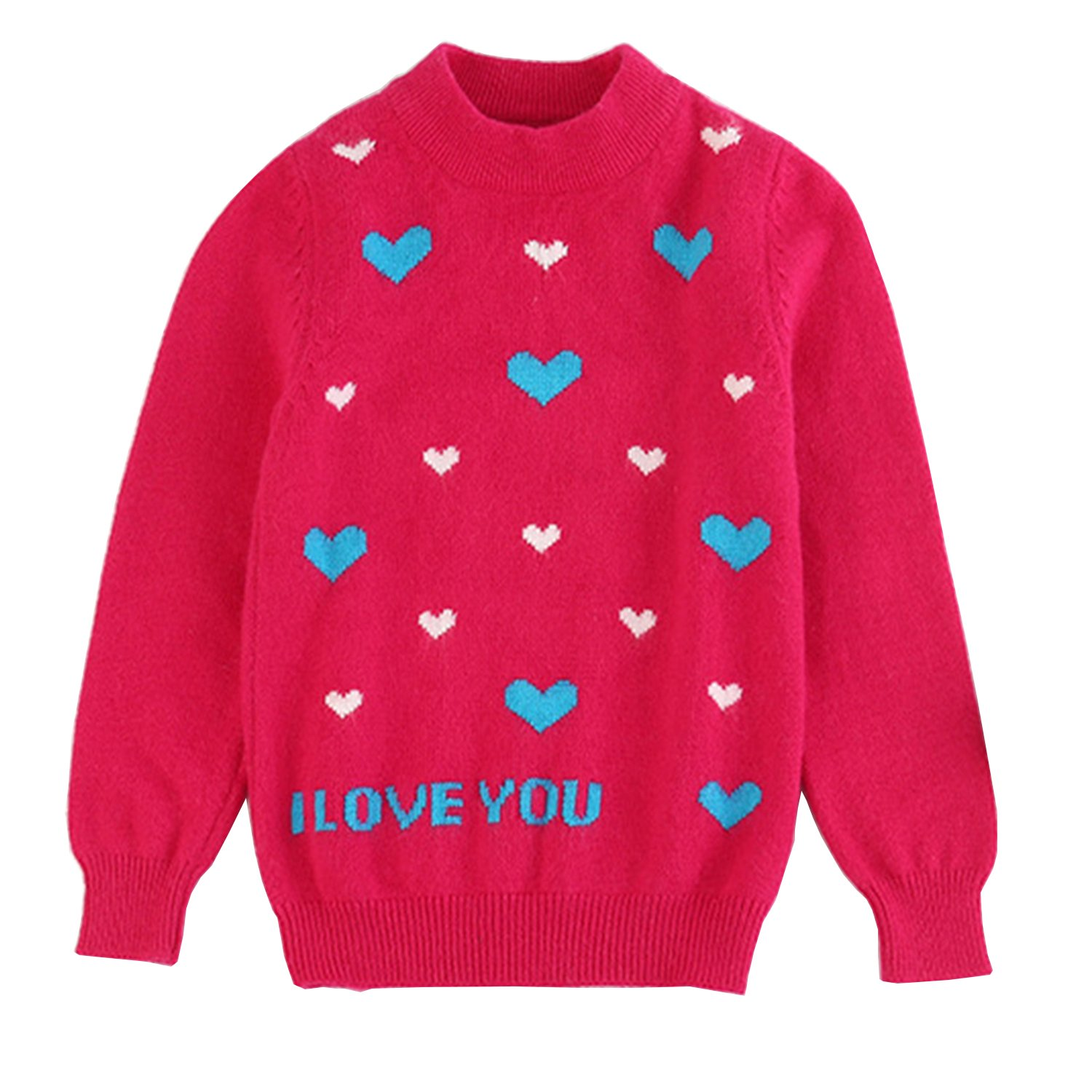 Euno Girls Cashmere Sweater Lovable Sweater Pullover Knitwear Knit Sweater