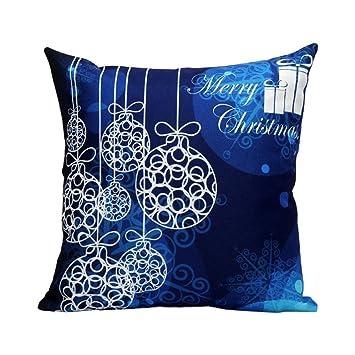 Fineshow Merry Christmas Custom Zippered Square Be Sofa Cushion Cover Case (F)