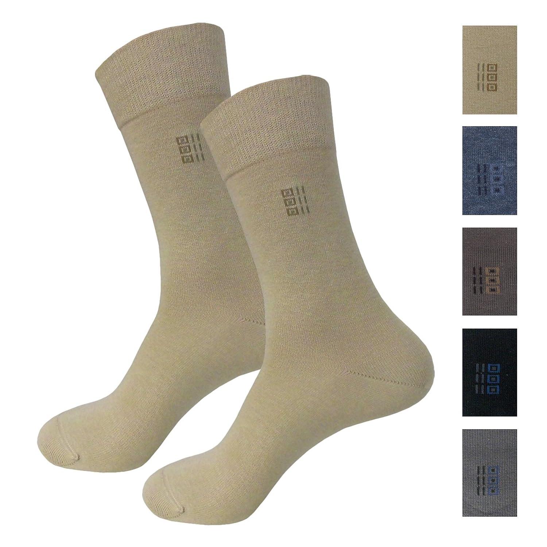 Ergora Herren-Socken 2-er Set Doppelpack Herrenstrümpfe 5 Farben Gr. 39/42 und 43/46 Business-Socken