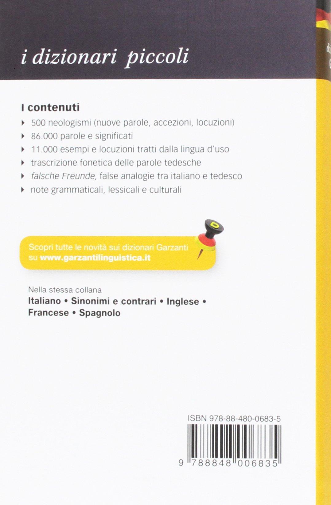 Amazon Piccolo Dizionario Di Tedesco Libri