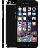 KAPA Full Body Matte Finish Vinyl Skin Sticker Cover for Apple iPhone 6 6S - Black