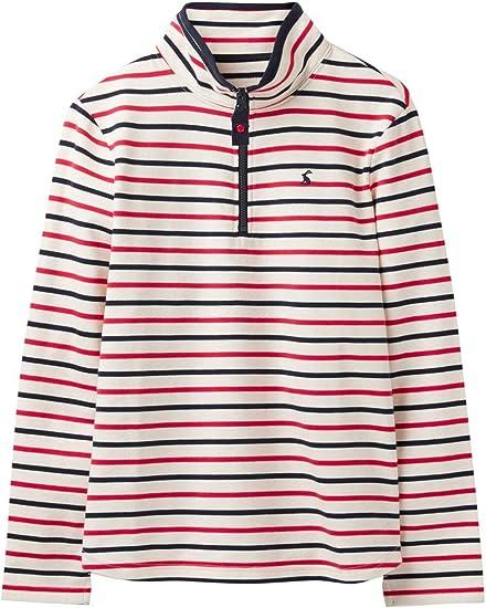 Joules Womens Fairdale Sweatshirt With Zip Neck 10 in CREAM NAVY STRIPE Size 10