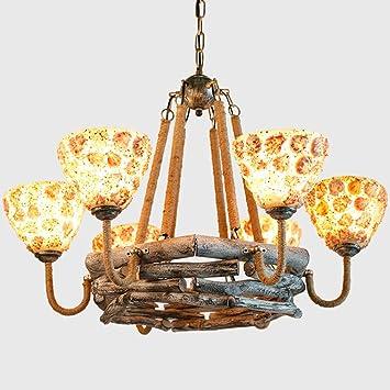 Iluminación de grandes cáñamo cuerda - Lámpara de techo ...