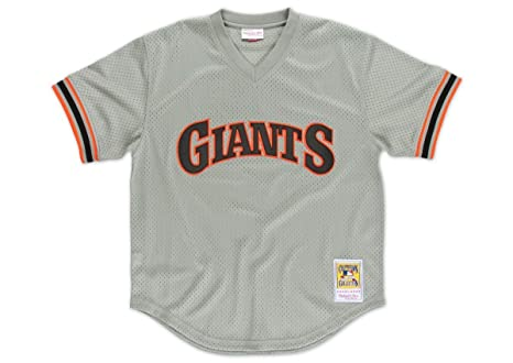 0022f58a684 Amazon.com   Mitchell and Ness 1989 Willie Clark Giants Mens Mesh BP ...