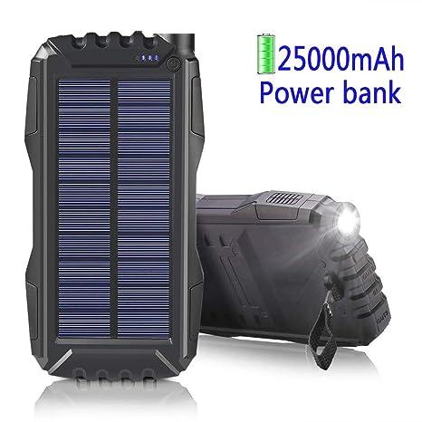 Cargador Solar 25000mAh,Portátil con Batería Cargador Solar ...