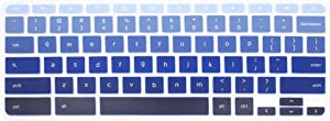 Silicone Keyboard Cover for 2017/2018 Acer Chromebook R11 CB3-131 CB3-132 CB5-132T, Acer Chromebook R 13 CB5-312T, Acer Chromebook 15 CB3-531 CB3-532 CB5-571, Acer Chromebook 14 CP5-471 (Blue Ombre)