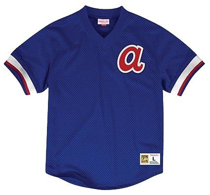 big sale 181dc 87f63 Amazon.com : Mitchell & Ness Atlanta Braves Men's V-Neck ...