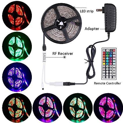 LED Flexible SMD 3528 5M 300 RGB LED Strip KITS Key Remote+Power+Led Strip