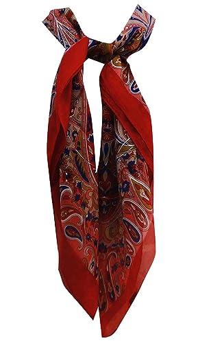 Pura seda de la bufanda de peso ligero cuadrado de cuello de la bufanda del abrigo de las bufandas 4...
