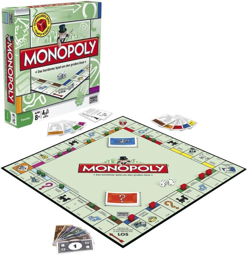 Hasbro Monopoly 00009 - Monopoly clásico (versión Alemana): Amazon.es: Juguetes y juegos
