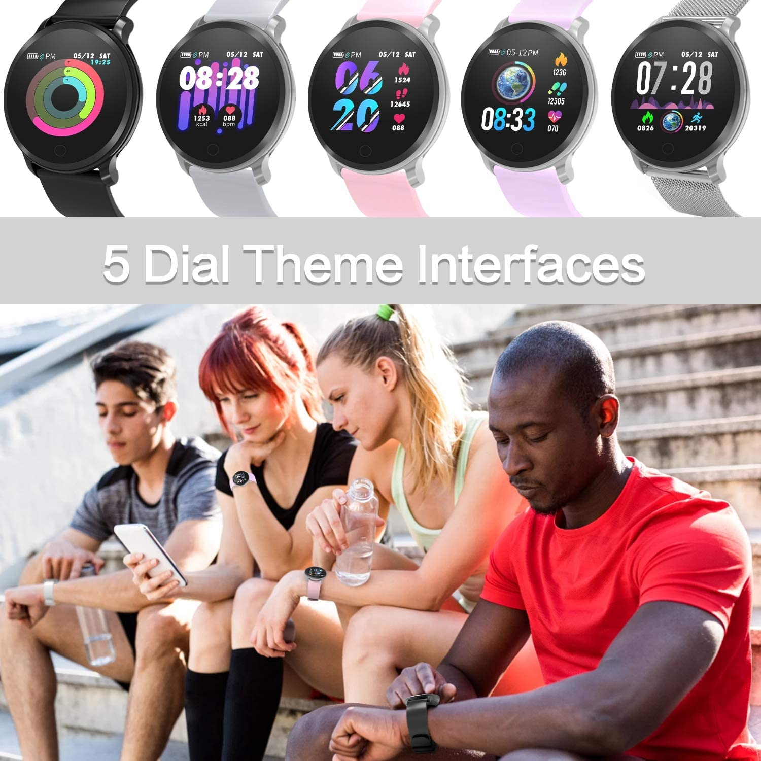 Amazon.com: BingoFit Fitness Tracker, reloj inteligente ...