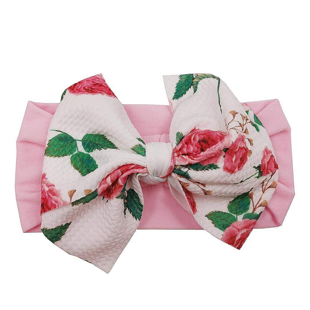 Mavere Baby Girls Floral Cute Fashion Childrens Bow Hairband Hairdress Headwear