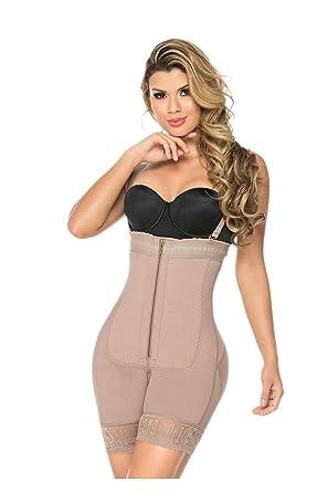 e52128afce2 FAJAS GAMA ALTA 0210 - Aventurina - Womens Powernet Body Shaper Colombiana  at Amazon Women s Clothing store