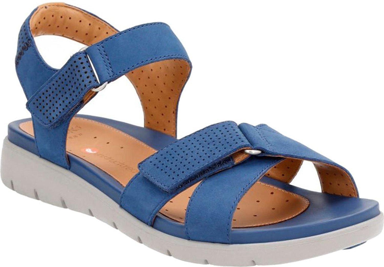 Clarks Un Saffron Womens River Sandals Dark Blue Nubuck 8 by CLARKS
