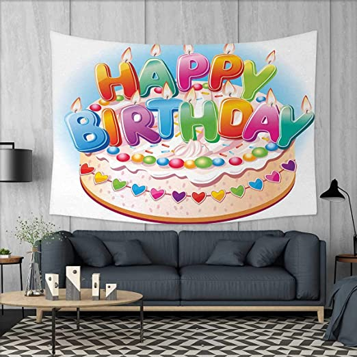 Anniutwo - Manta de cumpleaños para niños, diseño de Perro ...