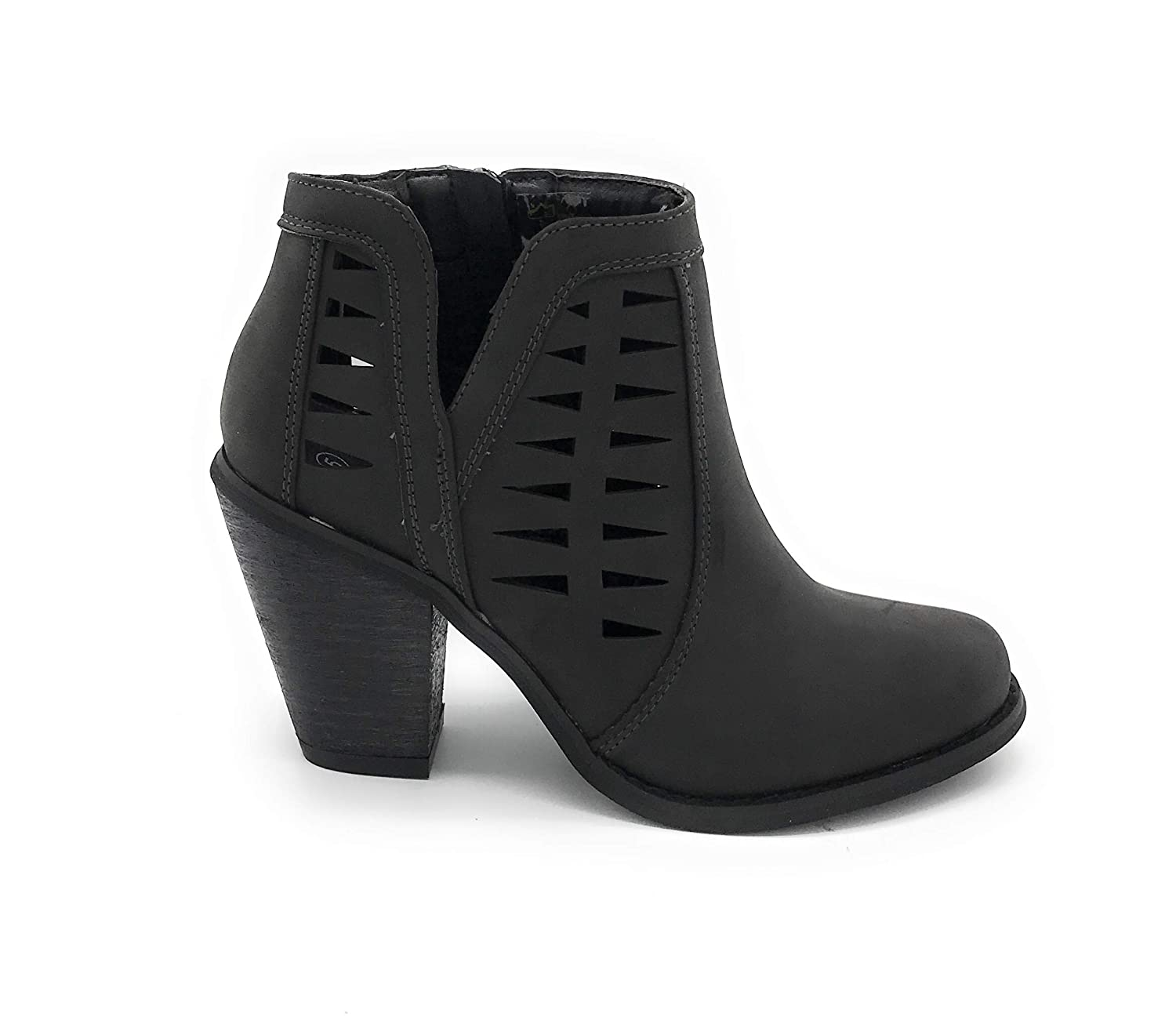 02black bluee Berry EASY21 Women Fashion Ankle Boots Casual Short Bootie shoes