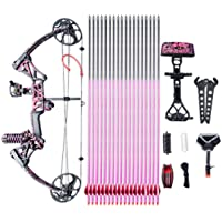 "Compound Bow Ship From USA Warehouse,Topoint Archery Special Gift for Women, Package M1,19""-30"" Draw Length,10-50Lbs Draw Weight,LIMBS MADE IN USA Hunting Bow For girls,Whole Muddygirl Color"