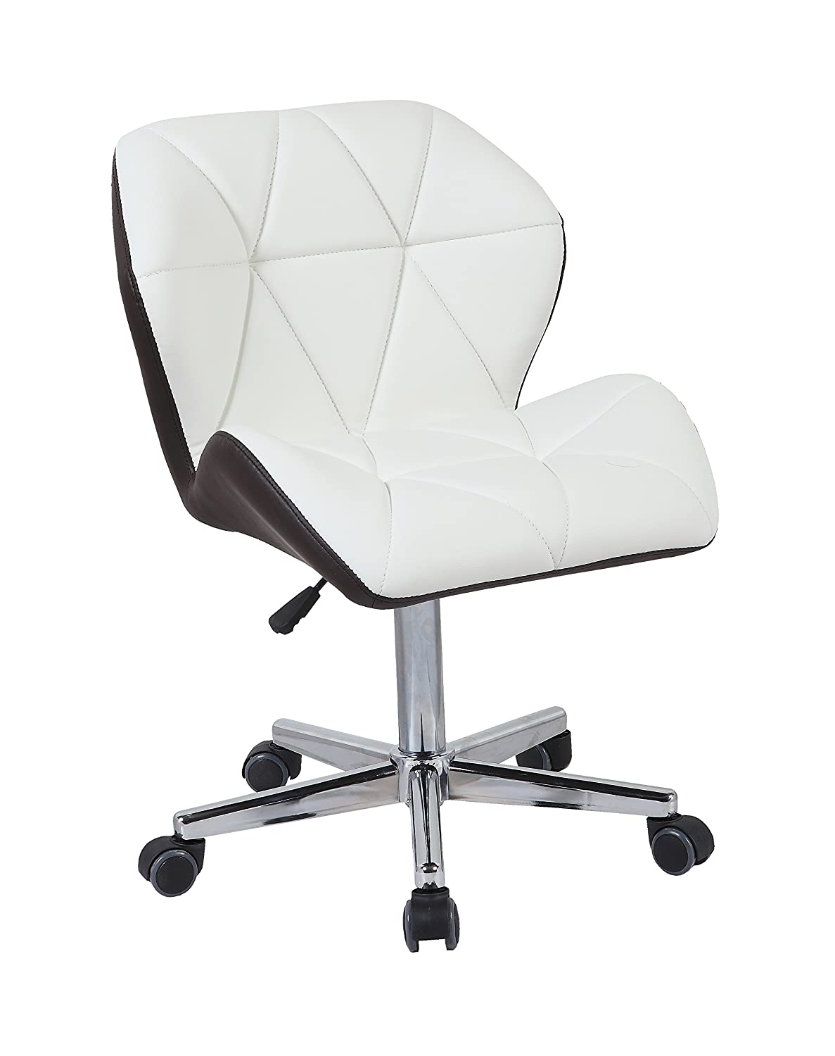 Hnnhome modern uranus padded swivel leather computer desk office chair mixed color white grey amazon co uk kitchen home