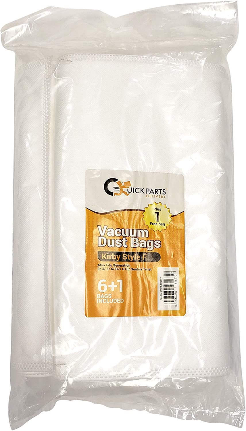 Quick Parts Delivery Vacuum Dust Bags for Kirby Style F Package of 7