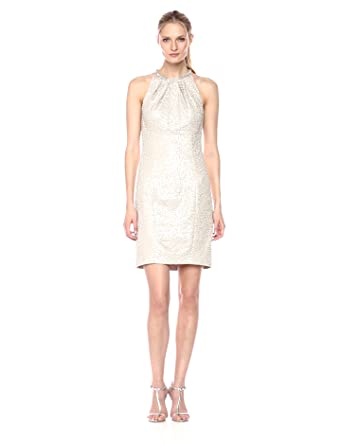 bb382e3a351 Eliza J Women s Textured Halter Neck Dress at Amazon Women s ...